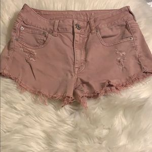American eagle dusty pink size 6 cut off shorts